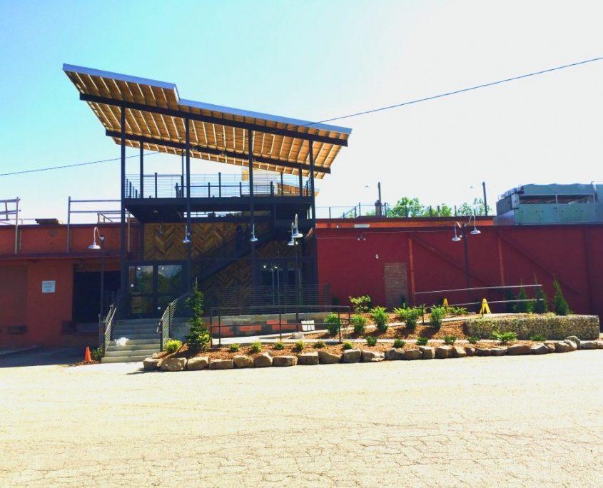 Highland Brewery Exterior & Parking Lot