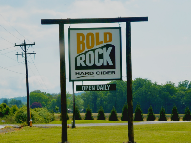 Bold Rock Cidery Sign